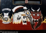 Murales of bikers in bronx