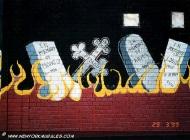 Murales of bikers in bronx | Detail of the murales | New York Murales