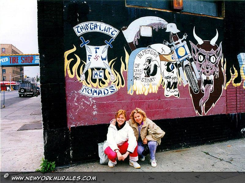 The gang\'s murales