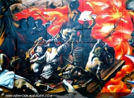 A reproduction of The raft of the Medusa, a famous picture of Théodore Géricault | The raft of the Medusa | New York Murales