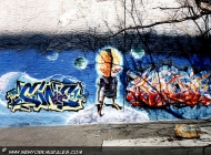 E.T. and the galaxy on the back | E.T. | New York Murales