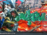 Firemen in action | Firemen | New York Murales