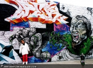 A monster. You can see how large this murales is, compared with me! | Monster | New York Murales