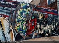 A subway trains parking | Parking | New York Murales