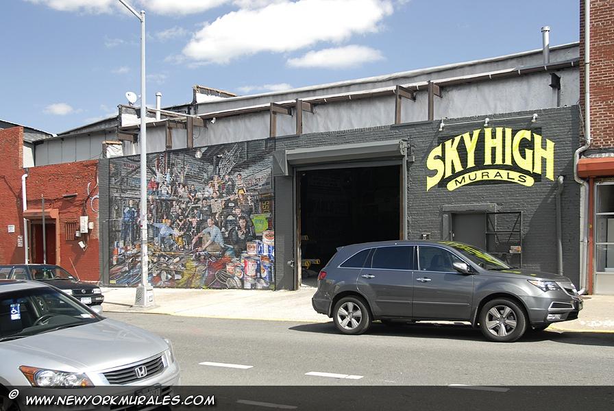 Studio för Skyhigh väggmålningar