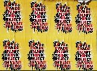 Sticker in Brooklyn | Words | New York Murales