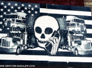 Death at the phone...   Death   New York Murales