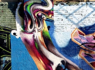 A colored face, in Munch's style   Rainbow face   New York Murales