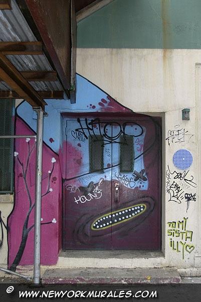 A painted door