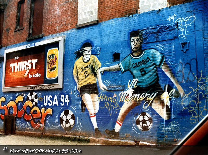 In memory of a colombian soccer player