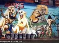 Murales of the 13 Street boys in Lower East Side | 13 Street boys | New York Murales