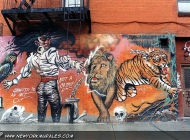 Graffiti is an art, not a crime! (East Side) New York Murales