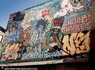 New York artists: Jean Michel Basquiat and Andrè Charles (East Side) New York Murales