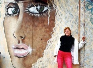 That's me in front a blond girl | Blond girl | New York Murales