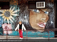That's me in front a brown girl | Brown girl | New York Murales