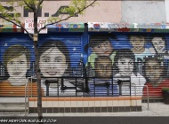 A long murales about children