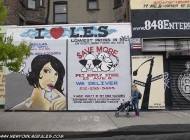 I love Lower East Side and some advertisings | I love L.E.S. | New York Murales