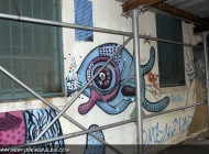 A strange sort of fish between the two doors | A strange sort of fish | New York Murales