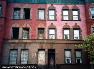 Half house ok in Harlem (Harlem) New York Murales