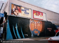 Murales in Harlem in memory of Mumia Abu-Jamal (Harlem) New York Murales