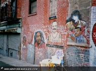 Murales in Harlem  in memory of hispanical legends (Harlem) New York Murales