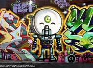 Funny baby robot | Long Island | 5 Pointz | New York Murales