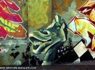 A green dragon | Long Island | 5 Pointz | New York Murales