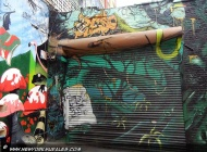 A forest painted on the iron grate | Long Island | 5 Pointz | New York Murales