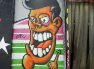 A cartoon style face | Long Island | 5 Pointz | New York Murales