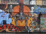 Skeletons on the walls | Long Island | 5 Pointz | New York Murales