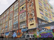 Tags and writtens on the building | Long Island | 5 Pointz | New York Murales