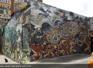 Evil and Deaths in this murales, where the writen are as red as flames and blood | Long Island | 5 Pointz | New York Murales