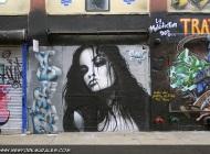 A beautiful woman face   Long Island   5 Pointz   New York Murales