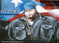 Known early in his career as Big Moon Dog, Big Pun was once an avid basketball player and boxer, but later said he took to eating until he couldn't tie his shoelaces. The rap world started to take the notice of Rios - whose stage name was short for Big Punisher - after appearance with fellow rapper Fat Joe. Later he played with the group Terror Squad | Big Punisher | New York Murales