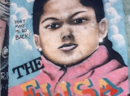 Elisa, 3 years old, killed by the hands of her 16 years old mum because of her crying. On the murales there is the written: the Elisa tragedy. Don't make me go back! | Elisa | New York Murales