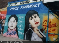 Elisa and Selena. Two different and tragic deaths. Selena was a very famous singer, loved all around the US, and was killed for refusing the avances of her jelaous and lesbian manager at the top of her career (Rip) New York Murales