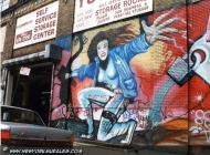 A cop was killed while she was on duty. The murales is made in the real place where she was killed | Cop | New York Murales