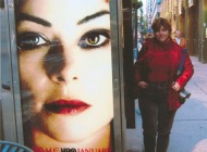That's me in front of a Michael Jackson placard | Advertising | New York Murales