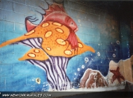 Murales in greenwich village west side new york city fish market | Inside a fish market | New York Murales